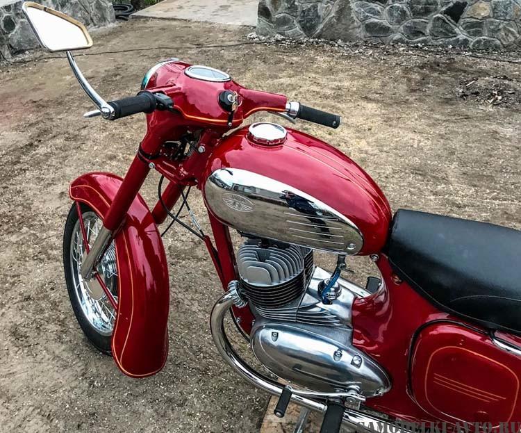 реставрация мотоцикла Ява
