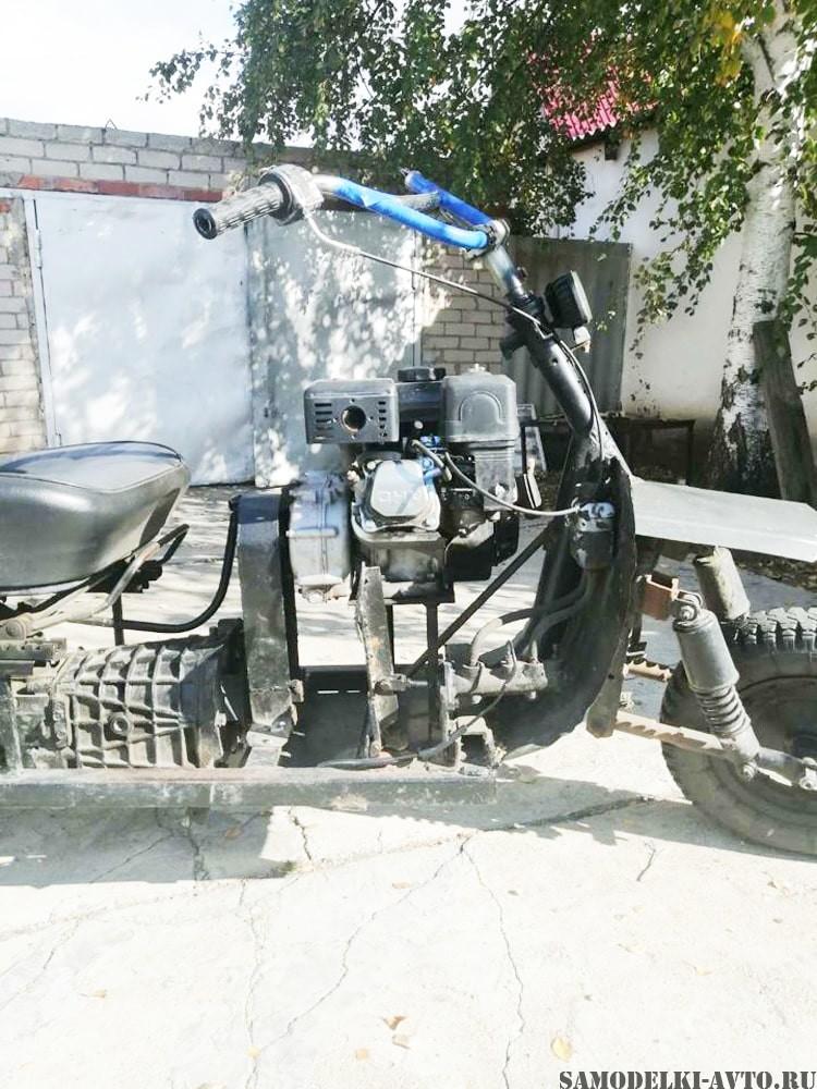 трицикл с двигателем от мотоблока